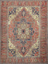 "Antique Persian Heriz Rug > Design # 463 > 9'-2"" X 12'"
