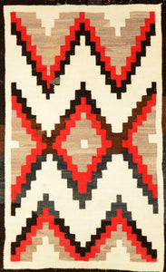 "Old American Indian Navajo Rug > Design# 230 > 2'-9"" X 5'-0"""