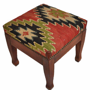 Kilim Foot Stool-OC-27 OC27