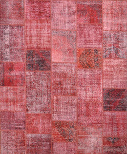 Turkish Patchwork Over Dyed Rug OD 031