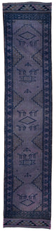 "Handmade Turkish Runner Purple Boho Rug > Design# 32710 > Size: 2'-9"" x 12'-9"" [ONLINE ONLY]"