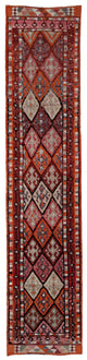 "Handmade Turkish Runner Multicolor Boho Rug > Design# 32724 > Size: 2'-9"" x 12'-10"" [ONLINE ONLY]"