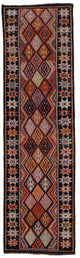 "Handmade Turkish Runner Brown Boho Rug > Design# 32725 > Size: 2'-11"" x 10'-3"" [ONLINE ONLY]"