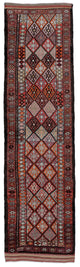 "Handmade Turkish Runner Brown Boho Rug > Design# 32734 > Size: 2'-9"" x 10'-4"" [ONLINE ONLY]"