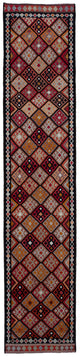 "Handmade Turkish Runner Black Boho Rug > Design# 32762 > Size: 2'-11"" x 14'-4"" [ONLINE ONLY]"