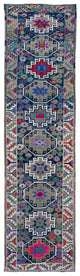 "Handmade Turkish Runner Multicolor Boho Rug > Design# 32862 > Size: 2'-11"" x 11'-1"" [ONLINE ONLY]"
