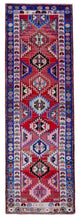 "Handmade Turkish Runner Red Boho Rug > Design# 32863 > Size: 3'-2"" x 9'-6"" [ONLINE ONLY]"