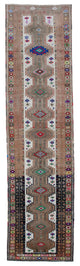 "Handmade Turkish Runner Beige Boho Rug > Design# 32872 > Size: 3'-1"" x 12'-1"" [ONLINE ONLY]"