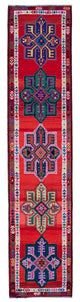 "Handmade Turkish Runner Multicolor Boho Rug > Design# 32873 > Size: 2'-11"" x 13'-2"" [ONLINE ONLY]"