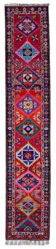 "Handmade Turkish Runner Multicolor Boho Rug > Design# 32883 > Size: 2'-8"" x 14'-4"" [ONLINE ONLY]"