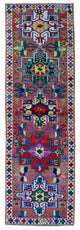"Handmade Turkish Runner Multicolor Boho Rug > Design# 32885 > Size: 3'-5"" x 10'-7"" [ONLINE ONLY]"