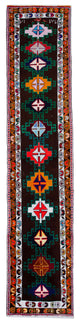 "Handmade Turkish Runner Multicolor Boho Rug > Design# 32887 > Size: 2'-9"" x 13'-5"" [ONLINE ONLY]"