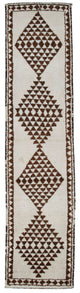 "Handmade Turkish Runner Beige Boho Rug > Design# 32888 > Size: 3'-0"" x 12'-4"" [ONLINE ONLY]"