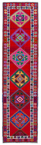 "Handmade Turkish Runner Red Boho Rug > Design# 32897 > Size: 2'-10"" x 11'-4"" [ONLINE ONLY]"