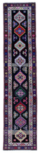 "Handmade Turkish Runner Purple Boho Rug > Design# 32899 > Size: 2'-11"" x 12'-7"" [ONLINE ONLY]"