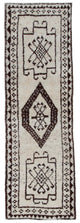"Handmade Turkish Runner Beige Boho Rug > Design# 32902 > Size: 3'-1"" x 9'-9"" [ONLINE ONLY]"