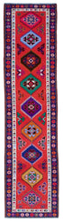 "Handmade Turkish Runner Red Boho Rug > Design# 32903 > Size: 2'-8"" x 11'-0"" [ONLINE ONLY]"