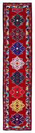 "Handmade Turkish Runner Red Boho Rug > Design# 32905 > Size: 2'-9"" x 12'-2"" [ONLINE ONLY]"