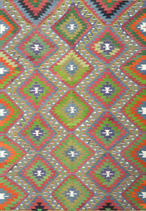 Old Turkish Kilim Rug - K KL-16
