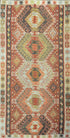 "Old Turkish Kilim Rug - K > Design # 1580 > 5'-4"" X 10'-6"""