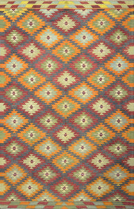 Old Turkish Kilim Rug - K KL-44