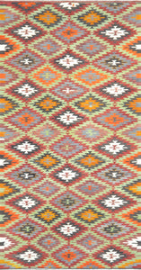 Old Turkish Kilim Rug - K KL-61