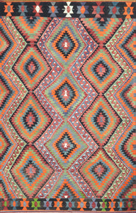 Old Turkish Kilim Rug - K KL-62