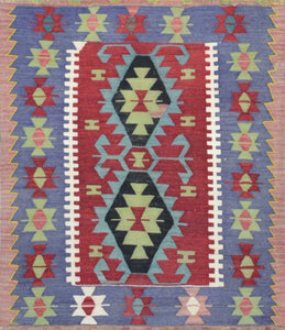 Old Turkish Kilim Rug - K KL-78