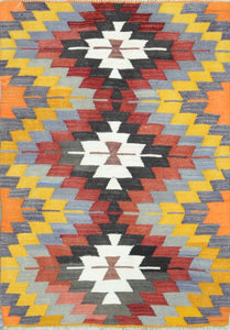 Old Turkish Kilim Rug - K KL-81