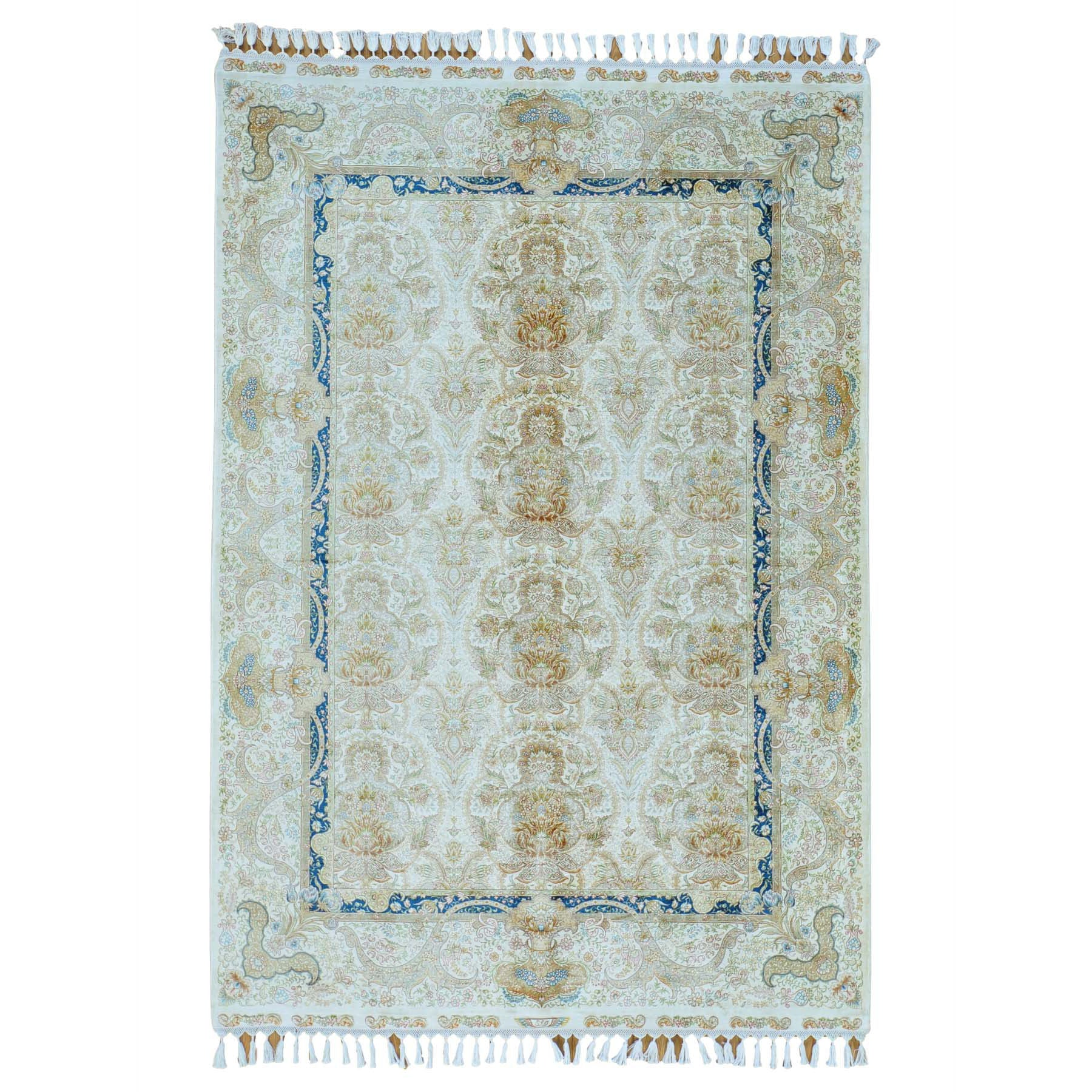 "Handmade Fine Oriental Rectangle Rug > Design# SH24062 > Size: 5'-6"" x 8'-0"" [ONLINE ONLY]"