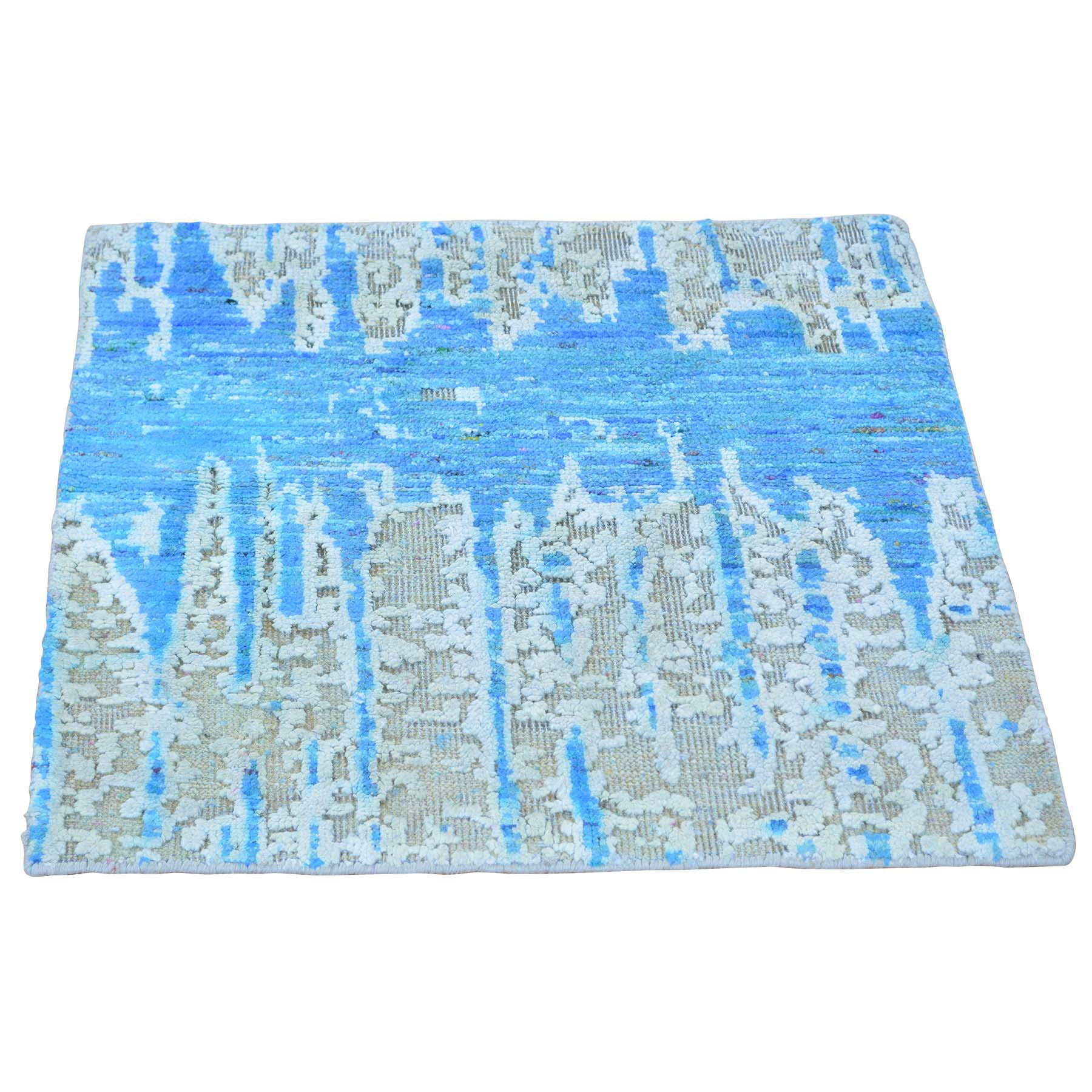 "Handmade Modern and Contemporary Square Rug > Design# SH24316 > Size: 2'-0"" x 2'-0"" [ONLINE ONLY]"