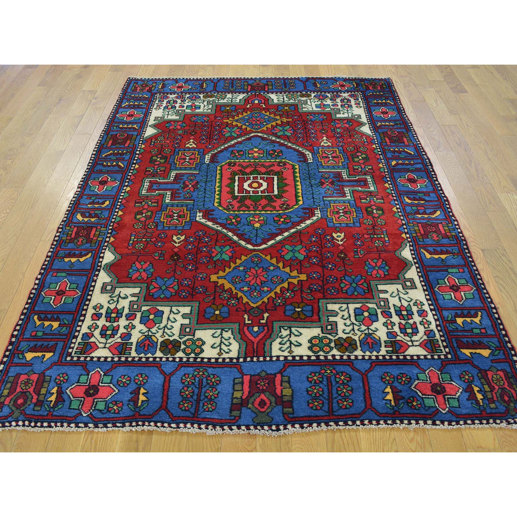 "Handmade Persian Rectangle Rug > Design# SH24583 > Size: 4'-6"" x 6'-6"" [ONLINE ONLY]"