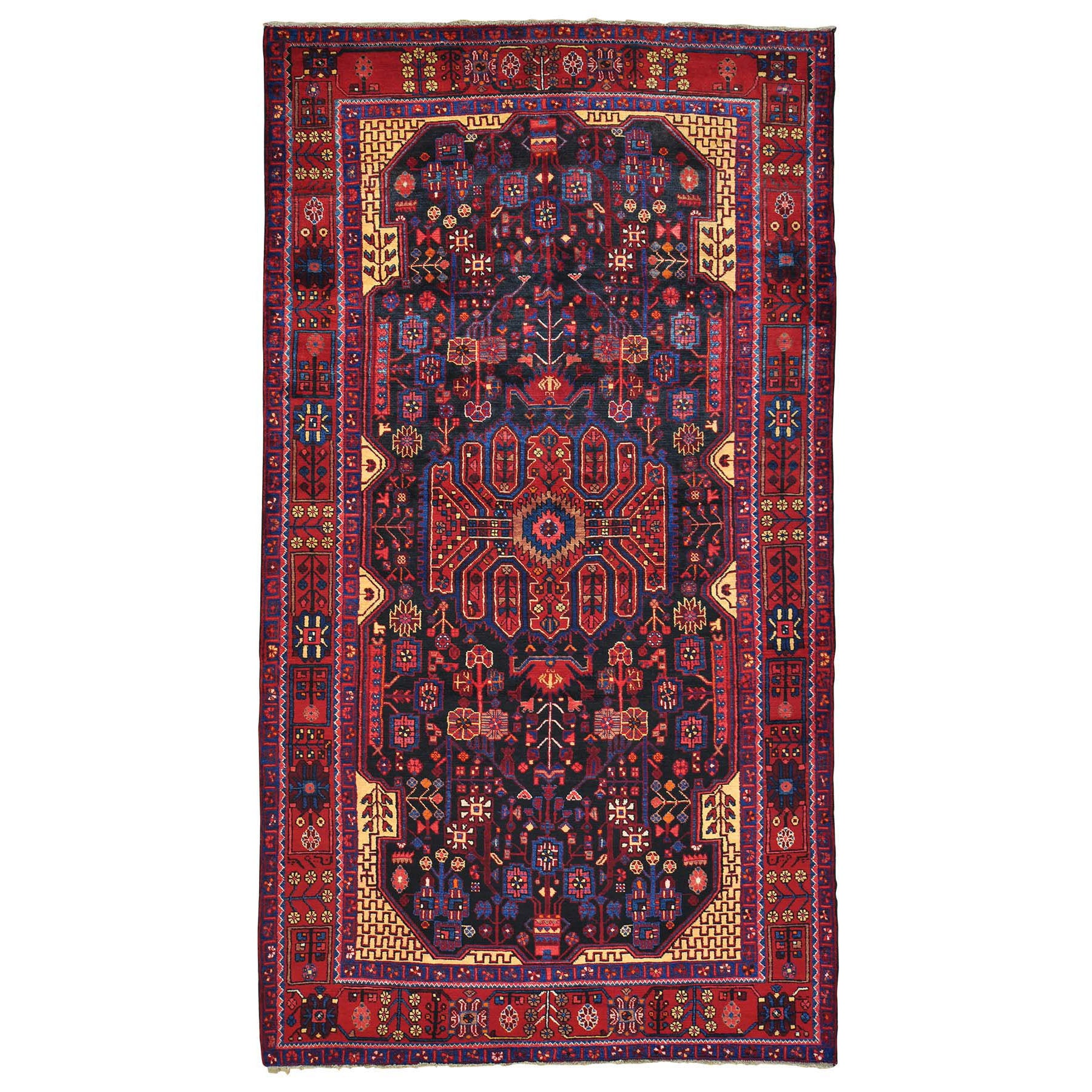 "Handmade Persian Rectangle Rug > Design# SH24596 > Size: 6'-0"" x 10'-0"" [ONLINE ONLY]"