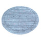 "Handmade Modern and Contemporary Round Rug > Design# SH25662 > Size: 4'-1"" x 4'-1"" [ONLINE ONLY]"