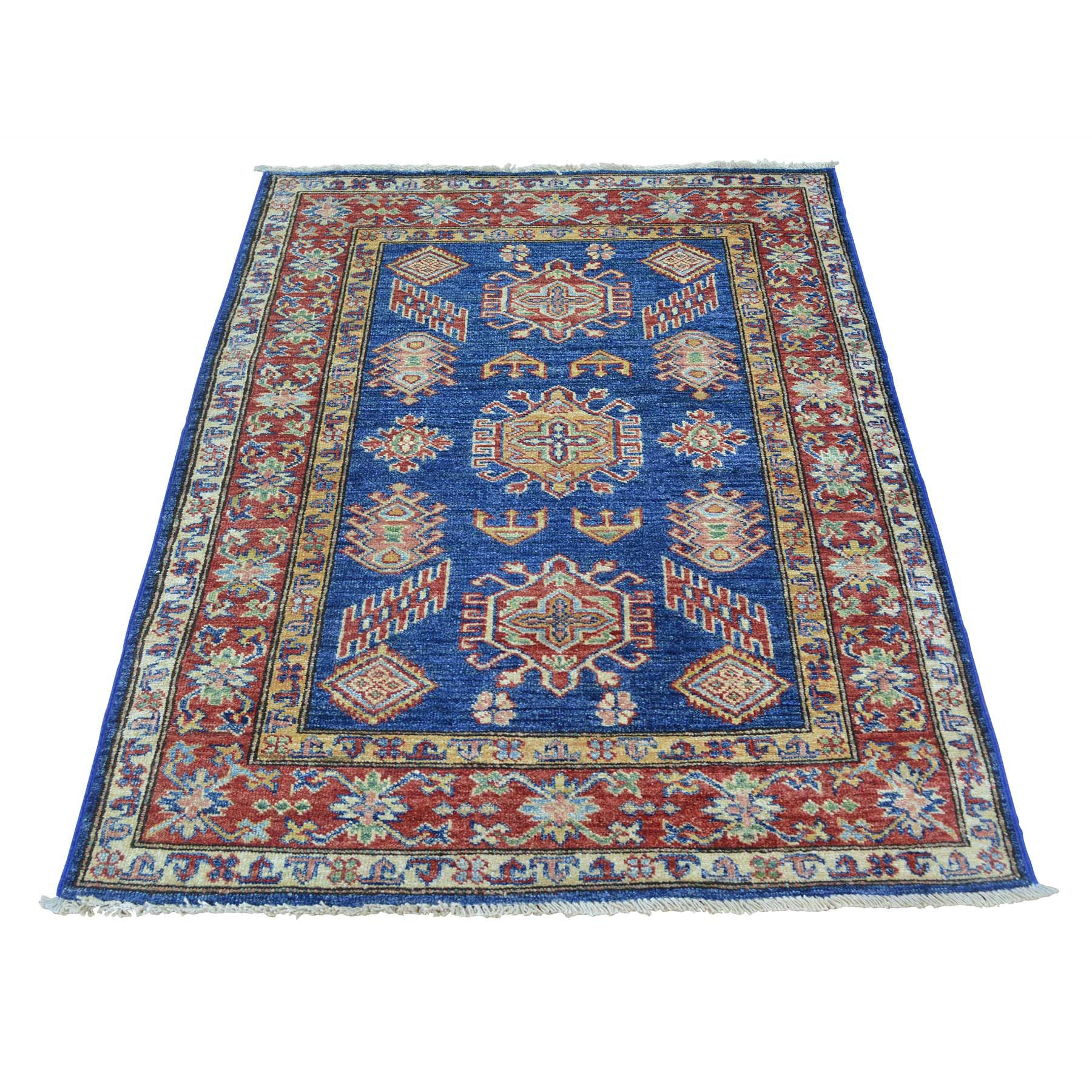 "Handmade Kazak Rectangle Rug > Design# SH25770 > Size: 3'-0"" x 4'-0"" [ONLINE ONLY]"