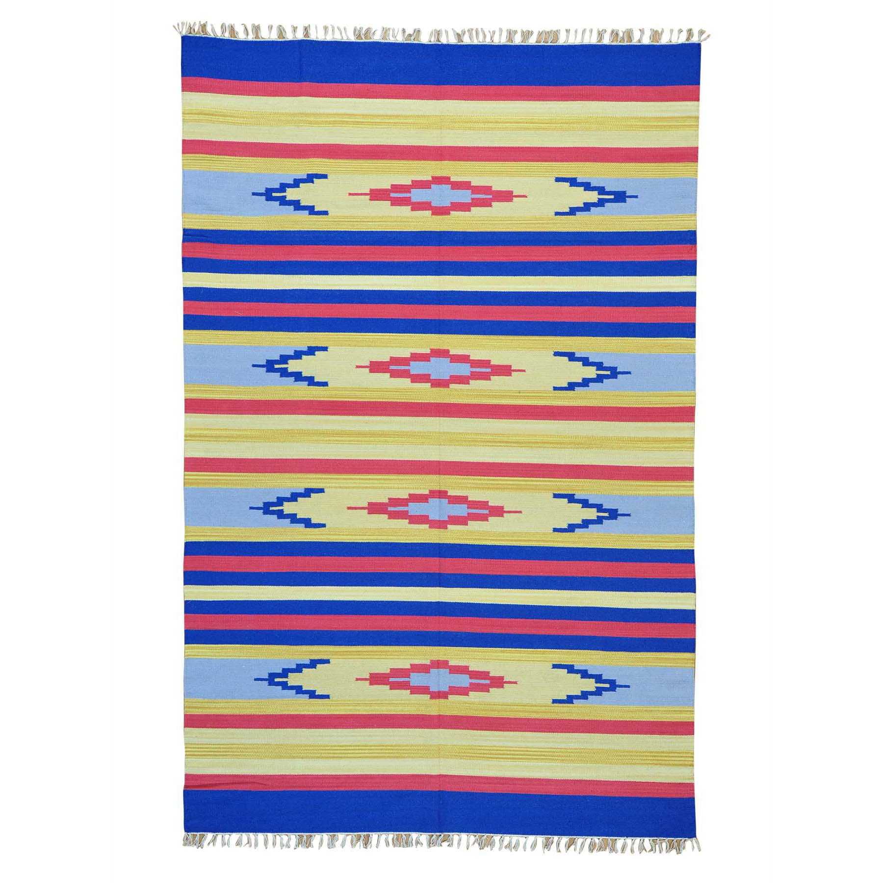 "Handmade Flat Weave Rectangle Rug > Design# SH26065 > Size: 6'-0"" x 9'-2"" [ONLINE ONLY]"