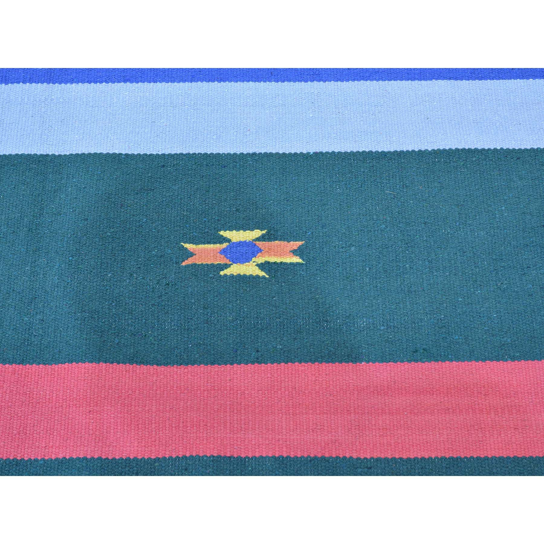 "Handmade Flat Weave Rectangle Rug > Design# SH26078 > Size: 8'-10"" x 12'-5"" [ONLINE ONLY]"