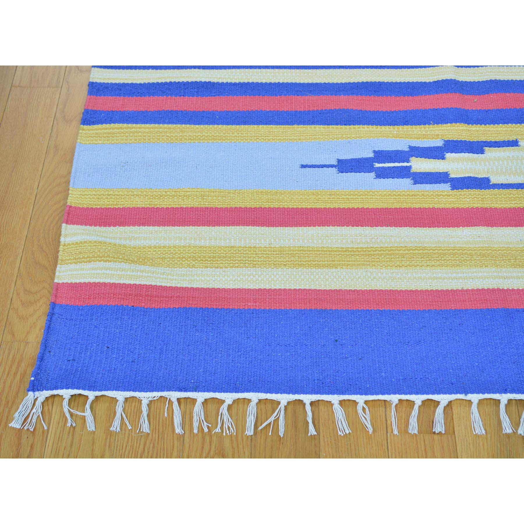 "Handmade Flat Weave Rectangle Rug > Design# SH26083 > Size: 8'-0"" x 10'-1"" [ONLINE ONLY]"