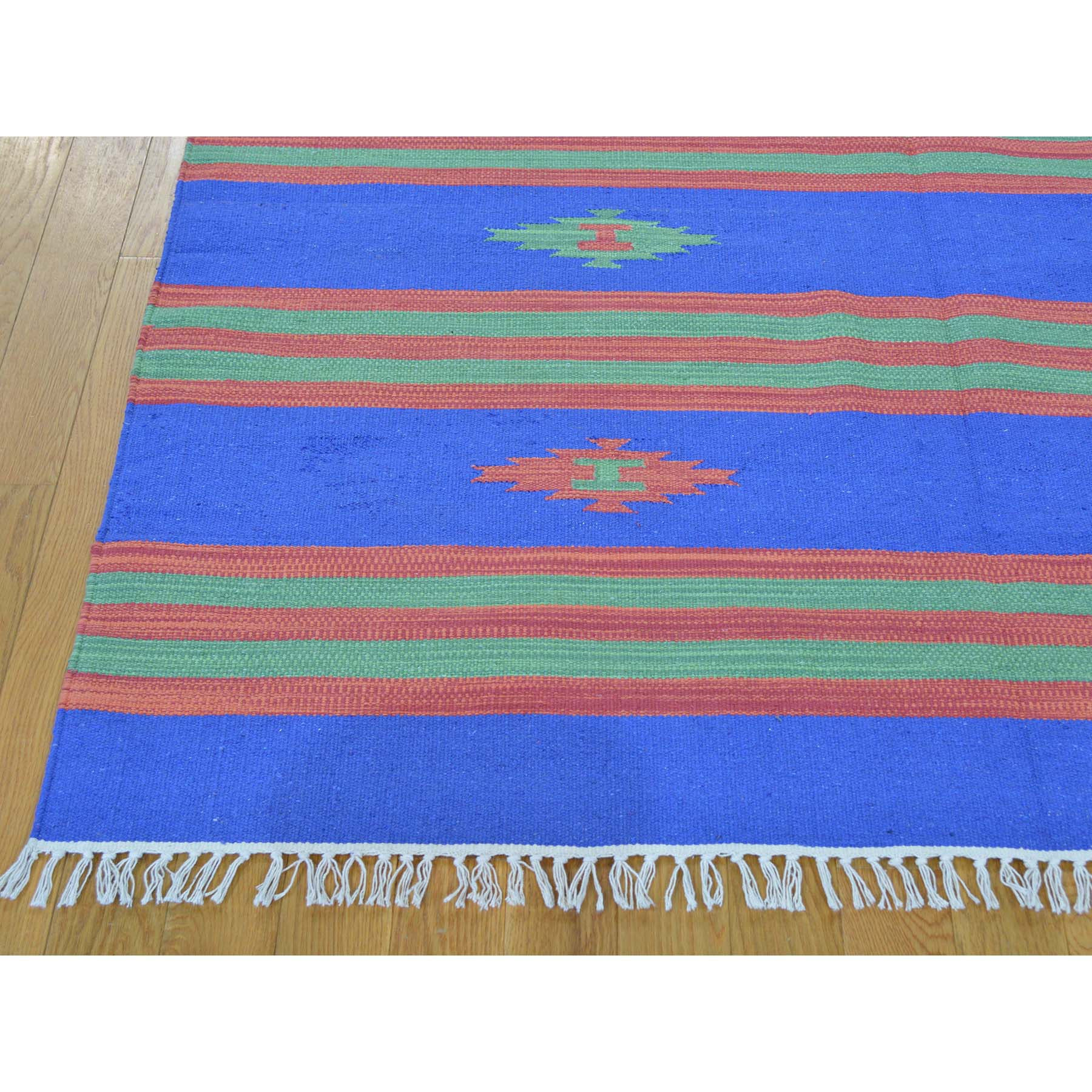 "Handmade Flat Weave Rectangle Rug > Design# SH26123 > Size: 5'-1"" x 7'-2"" [ONLINE ONLY]"