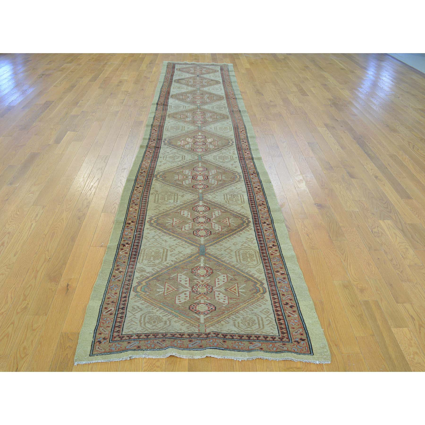 "Handmade Antique Runner Rug > Design# SH26424 > Size: 3'-1"" x 14'-3"" [ONLINE ONLY]"