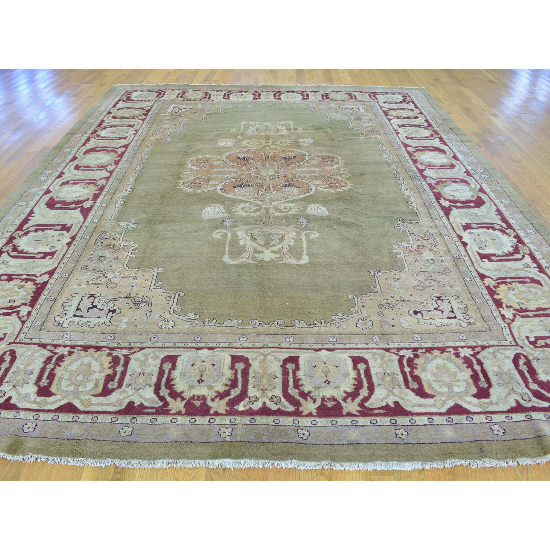 "Handmade Antique Rectangle Rug > Design# SH26880 > Size: 9'-0"" x 11'-7"" [ONLINE ONLY]"
