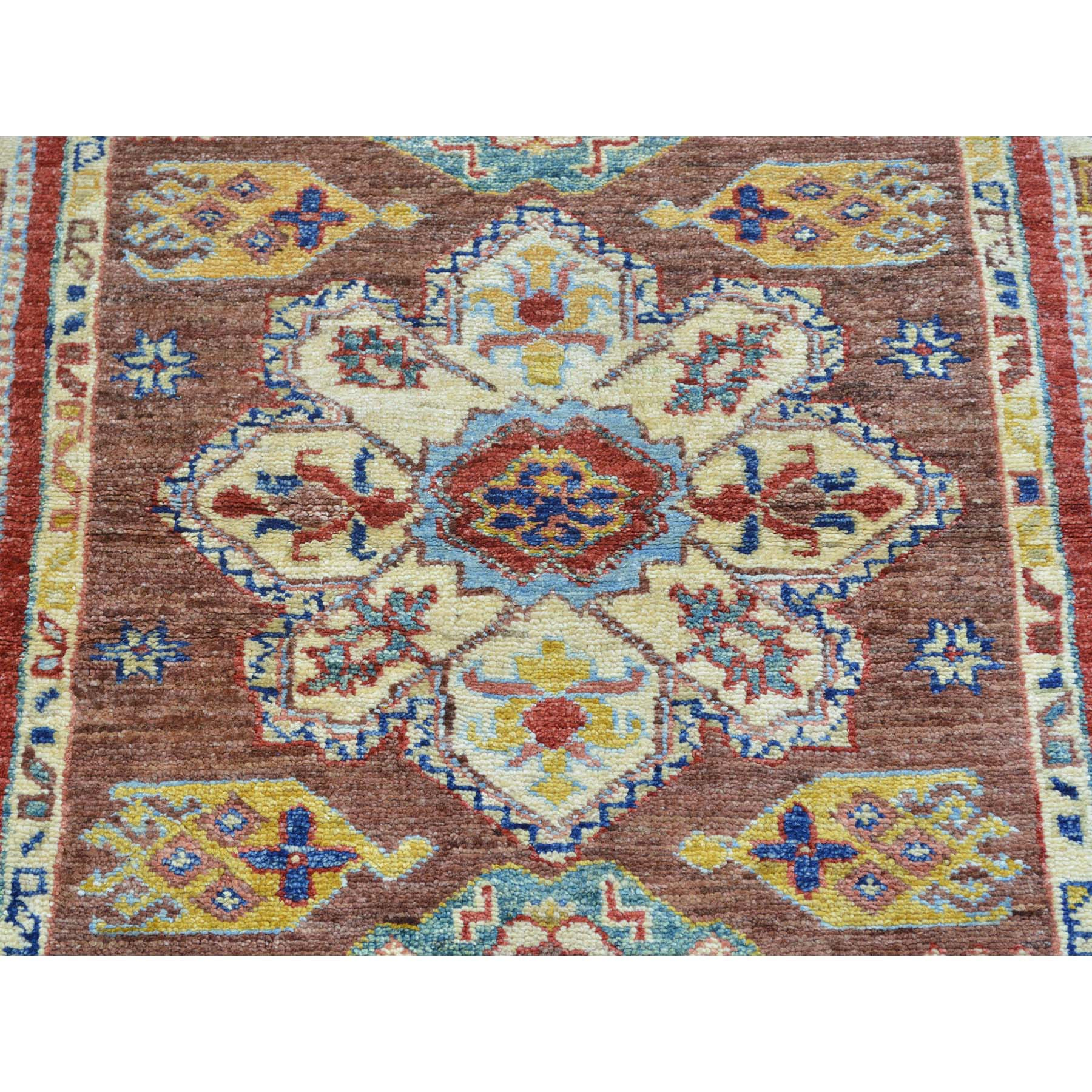 "Handmade Kazak Rectangle Rug > Design# SH26984 > Size: 3'-2"" x 5'-2"" [ONLINE ONLY]"