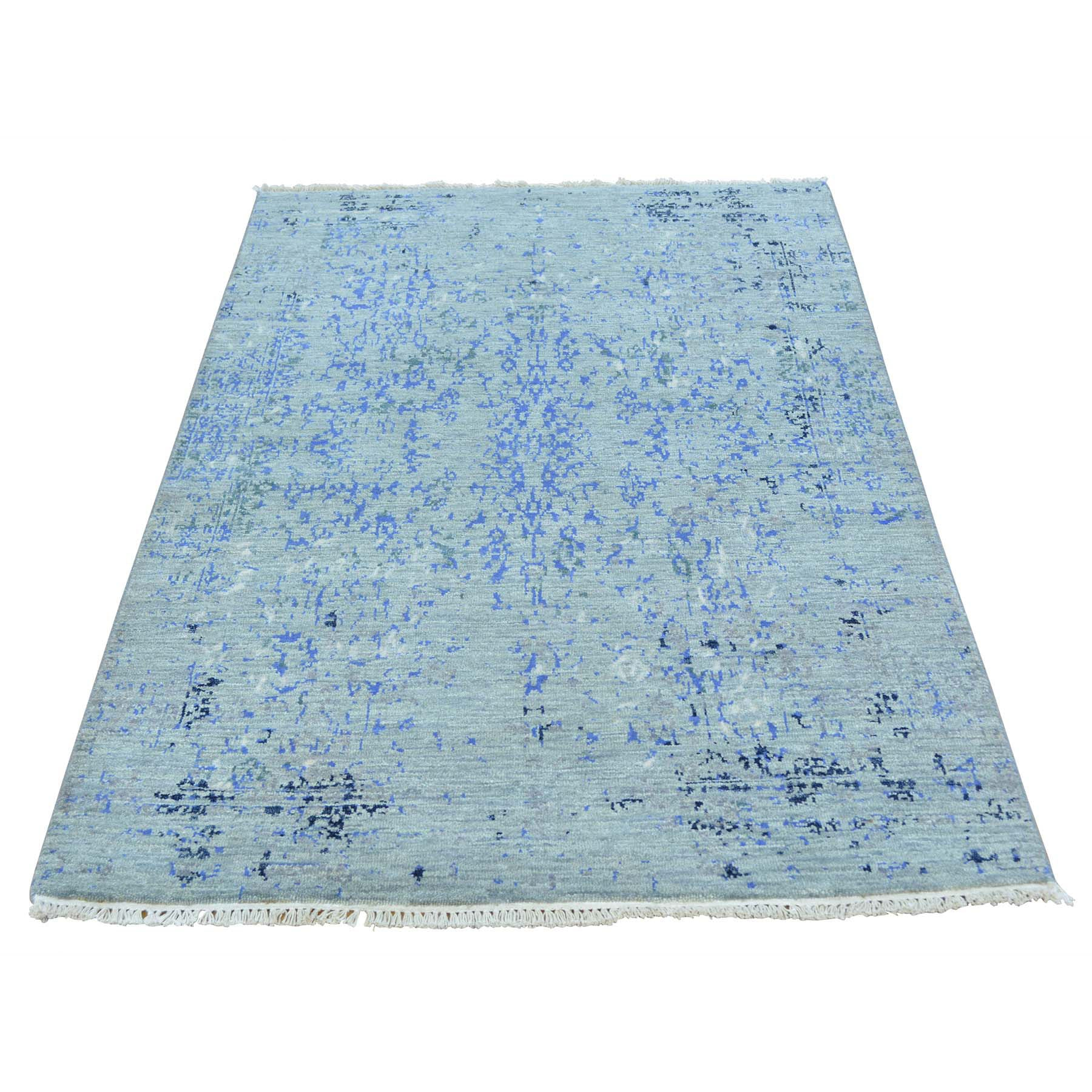 "Handmade Transitional Rectangle Rug > Design# SH27140 > Size: 3'-1"" x 5'-2"" [ONLINE ONLY]"