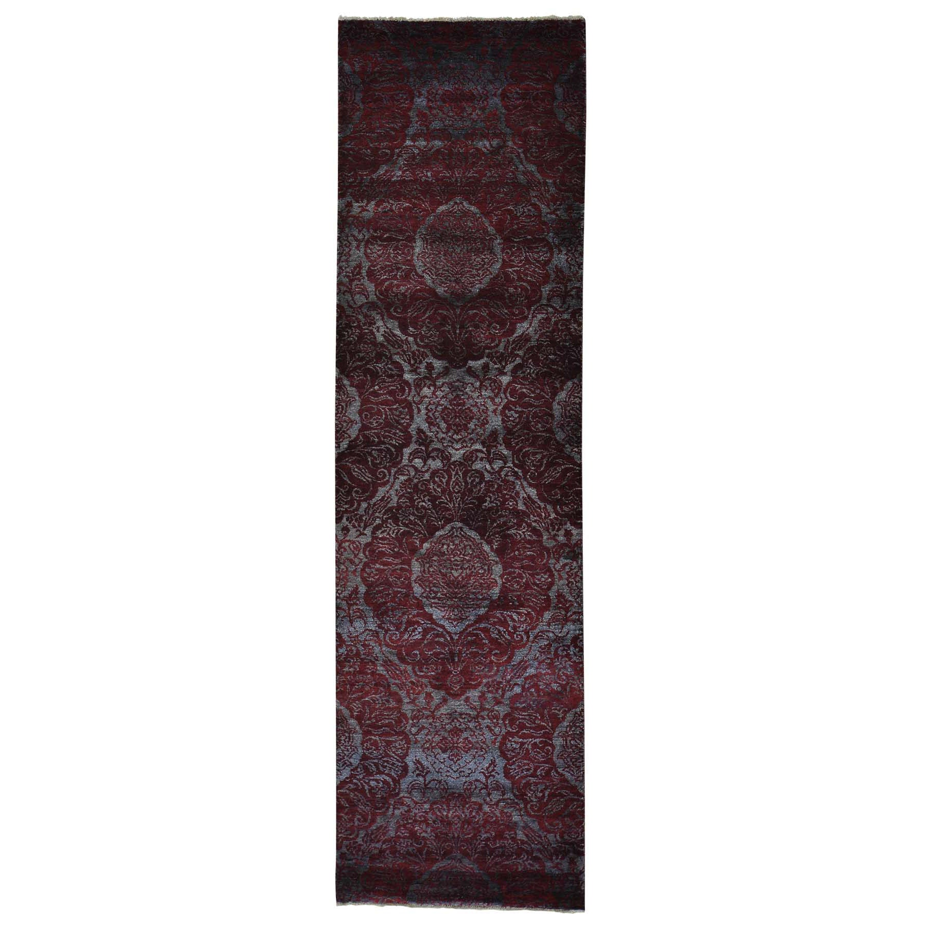 "Handmade Modern and Contemporary Runner Rug > Design# SH27450 > Size: 2'-9"" x 9'-9"" [ONLINE ONLY]"