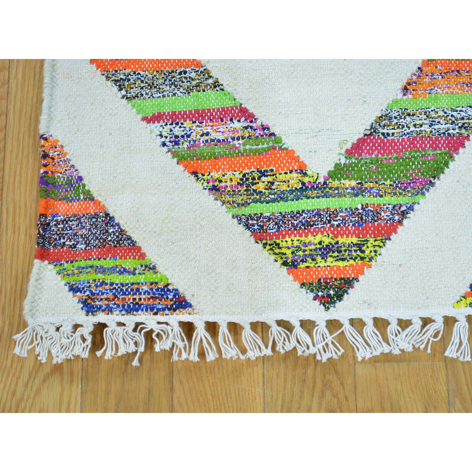 "Handmade Flat Weave Rectangle Rug > Design# SH28973 > Size: 5'-0"" x 7'-1"" [ONLINE ONLY]"