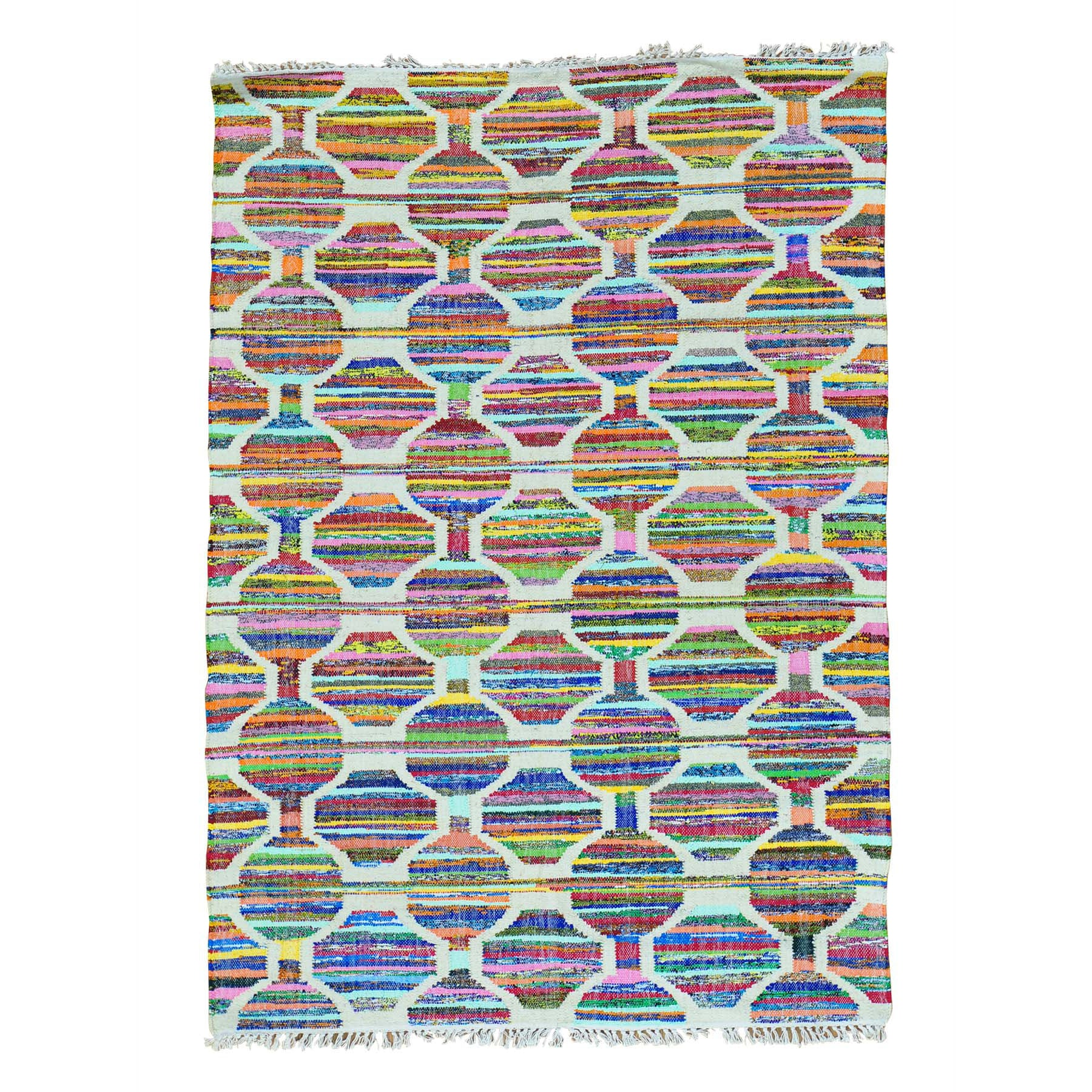 "Handmade Flat Weave Rectangle Rug > Design# SH28975 > Size: 5'-0"" x 7'-0"" [ONLINE ONLY]"