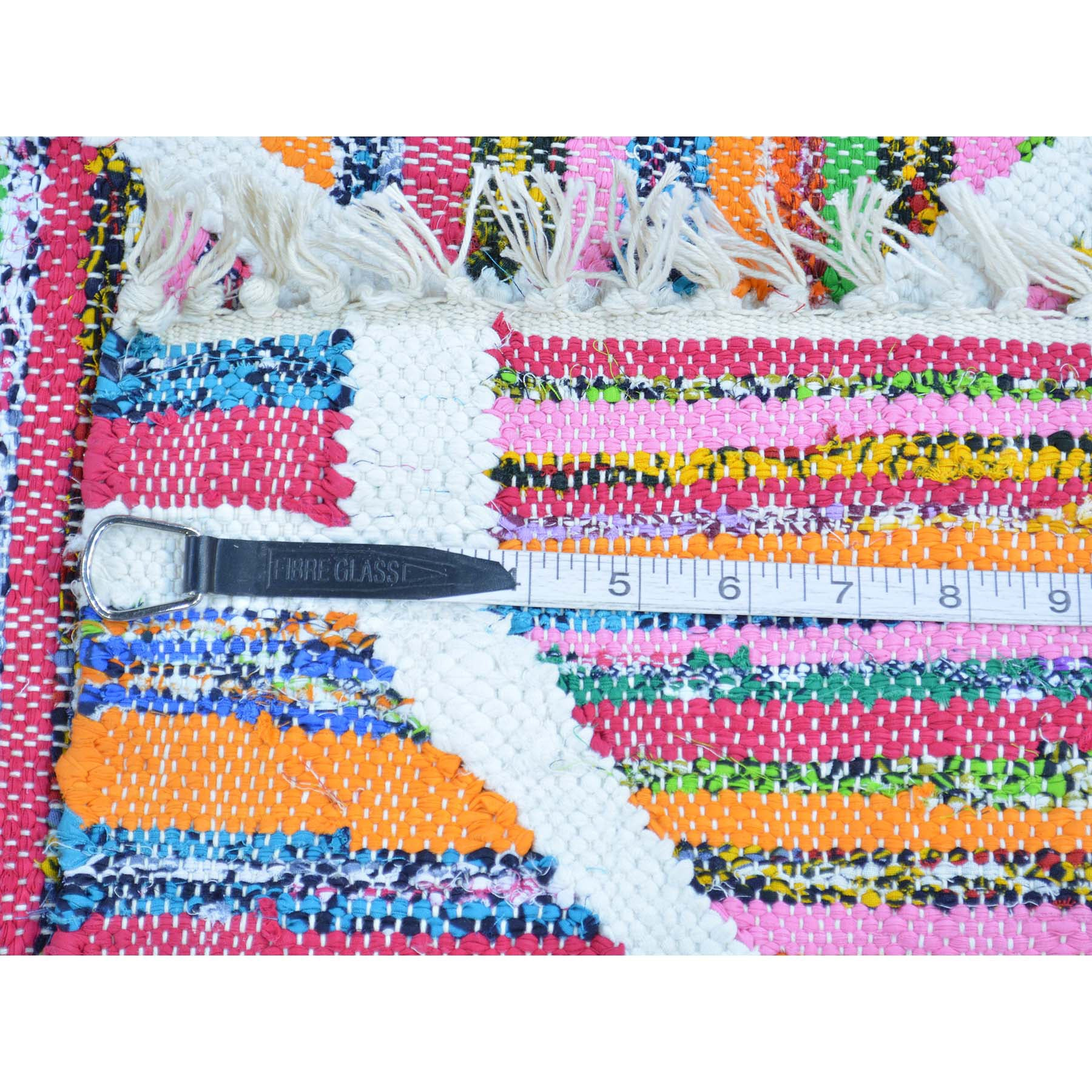 "Handmade Flat Weave Rectangle Rug > Design# SH29017 > Size: 3'-5"" x 5'-7"" [ONLINE ONLY]"