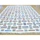 "Handmade Flat Weave Rectangle Rug > Design# SH29432 > Size: 8'-10"" x 12'-1"" [ONLINE ONLY]"