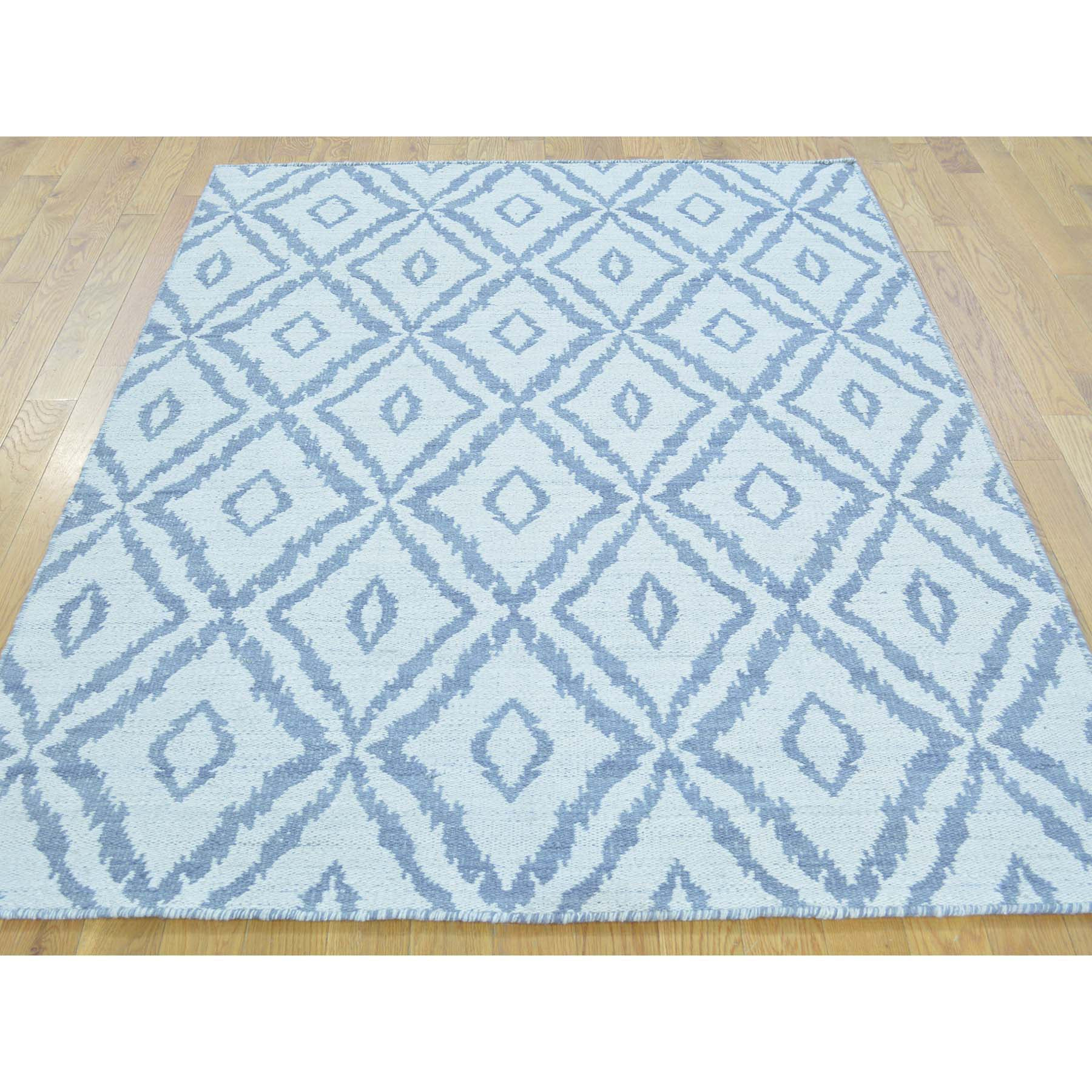 "Handmade Flat Weave Rectangle Rug > Design# SH29821 > Size: 4'-3"" x 6'-0"" [ONLINE ONLY]"