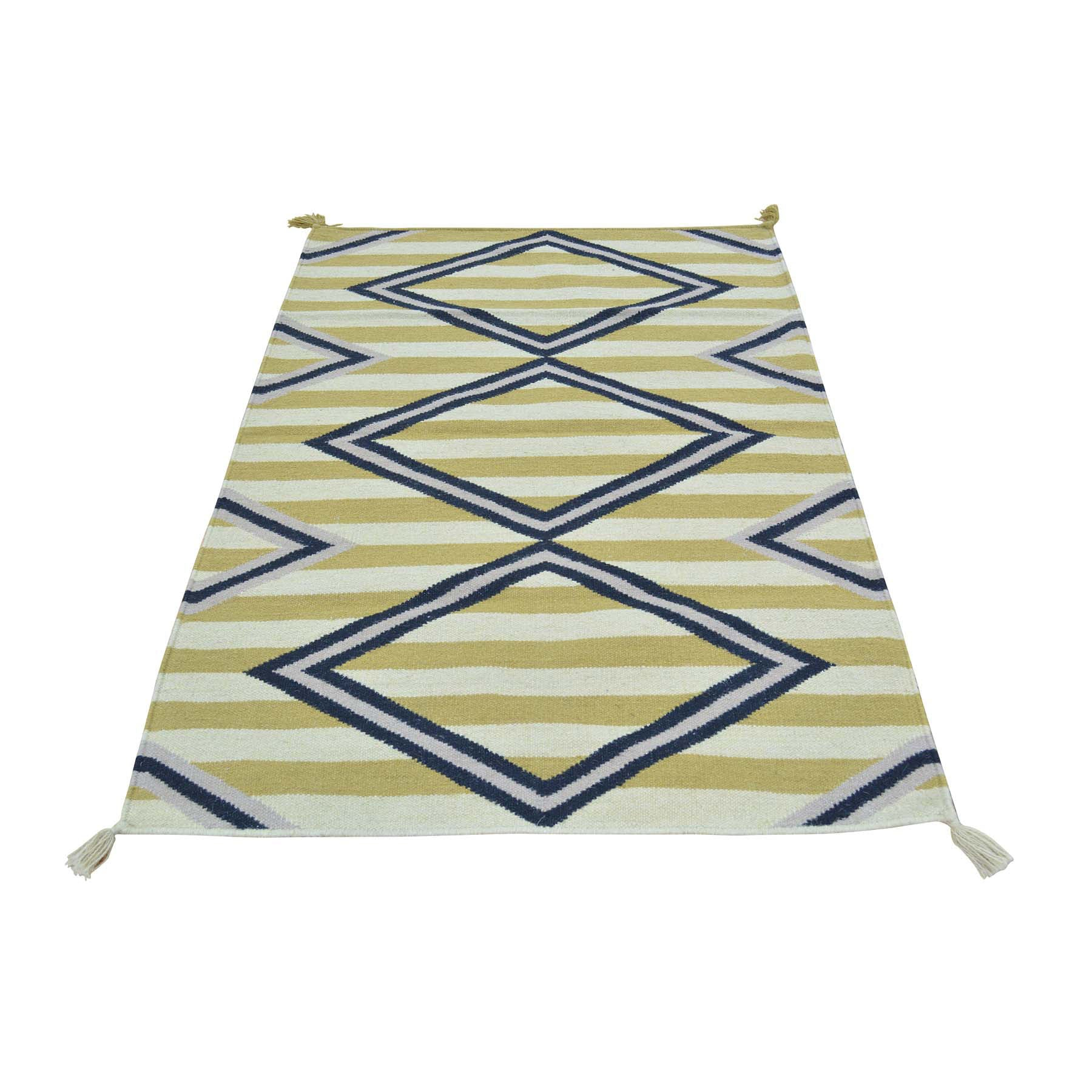 "Handmade Flat Weave Rectangle Rug > Design# SH29968 > Size: 3'-2"" x 5'-0"" [ONLINE ONLY]"